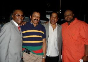 Gregg Austin, Ron Tyson of the Temptations, Earl, and Bruce Williamson of the Temptations