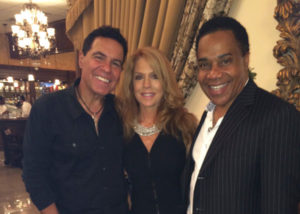 Entertainers, Clint and Kelly Holmes with Earl