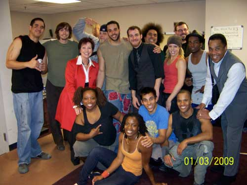 Cast of STOMP with Earl and Christine