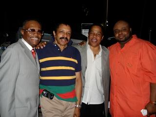Gregg Austin, Ron Tyson of the Temptations, Earl, and Bruce Williamson of the Temptations