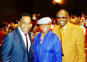 Earl with Sonny Turner from the Platters and Singer Gregg Austin