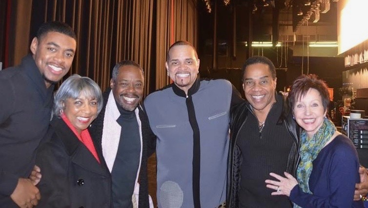 Trevor James, Vivian Garmon, and Singer Kenny James with Comedian Sinbad and Earl and Christine